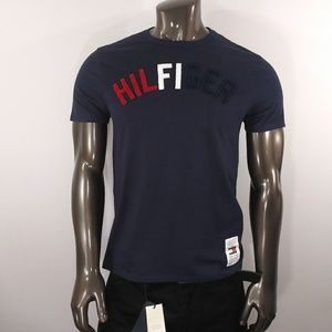 Tommy Hilfiger Bark Blue Tee with Raggy 3D Logo